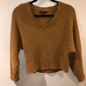 Yellow Cropped Sweater